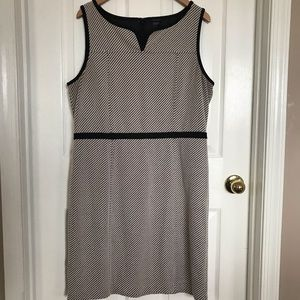 Ann Taylor classic black and white dress. Size 16
